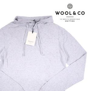 WOOL&CO パーカ メンズ S/44 グレー 灰色 ウールアンドコー 並行輸入品|utsubostock