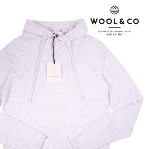 WOOL&CO パーカ メンズ M/46 ホワイト 白 ウールアンドコー 並行輸入品|utsubostock