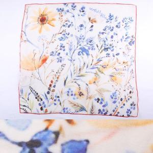 DANIELE FIESOLI シルク混 花柄 スカーフ DF1911 white 16439【A16439】|utsubostock