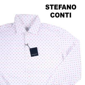 Stefano Conti 長袖シャツ メンズ 37/XS ホワイト 白 刺繍 ステファノ・コンティ 並行輸入品|utsubostock