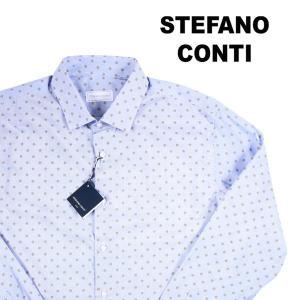 Stefano Conti 長袖シャツ メンズ 40/L ブルー 青 ステファノ・コンティ 並行輸入品|utsubostock