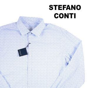 Stefano Conti 小花柄 長袖シャツ LOVE blue 40 16489【A16491】 utsubostock