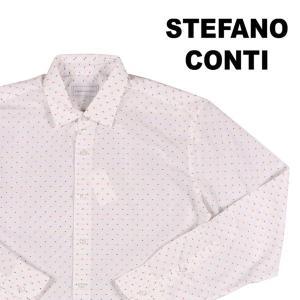 Stefano Conti 長袖シャツ メンズ XL/50 ホワイト 白 刺繍 ステファノ・コンティ 並行輸入品|utsubostock