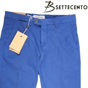 B Settecento コットンパンツ 3019-41 blue 38 16565B【S16590】|utsubostock