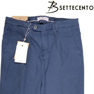 B Settecento コットンパンツ 3019-91 navy 32 16565N【S16569】|utsubostock