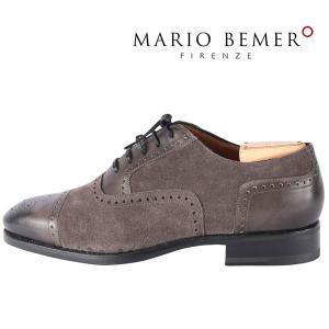 mario bemer 革靴 メンズ 41/25.5cm グレー 灰色 ハンドメイド マリオ・ベーメル 並行輸入品|utsubostock