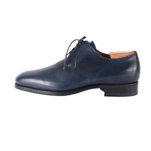 【40.5】 mario bemer マリオ・ベーメル 革靴 メンズ ハンドメイド ネイビー 紺 並行輸入品|utsubostock|02