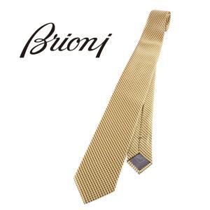 Brioni ネクタイ メンズ イエロー 黄 シルク100%  ブリオーニ 並行輸入品|utsubostock