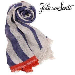 FalieroSarti ストール メンズ ブルー 青 カシミヤ混 ファリエロサルティ 並行輸入品|utsubostock