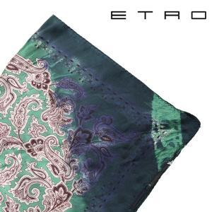 ETRO ポケットチーフ メンズ グリーン 緑 シルク100% エトロ 並行輸入品|utsubostock