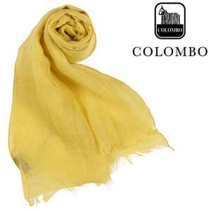 COLOMBO ストール メンズ 春夏 イエロー 黄 リネン100% コロンボ 並行輸入品|utsubostock