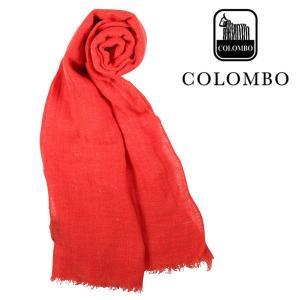 COLOMBO ストール メンズ 春夏 オレンジ リネン混 コロンボ 並行輸入品|utsubostock