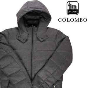 COLOMBO ダウンジャケット メンズ 秋冬 52/2XL グレー 灰色 カシミヤ100% コロンボ 大きいサイズ 並行輸入品|utsubostock