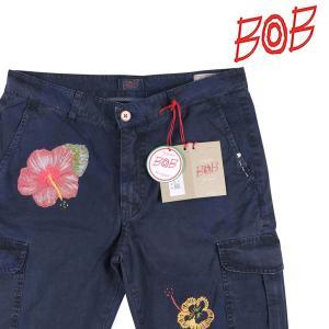 BOB 刺繍 ハーフパンツ CARGO navy 52 16774【S16777】 ボブ|utsubostock