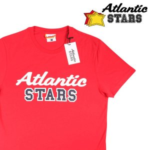 【XL】 Atlantic STARS アトランティックスターズ Uネック半袖Tシャツ U 09 メンズ ロゴ レッド 赤 並行輸入品 トップス|utsubostock