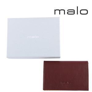 malo カードケース メンズ ブラウン 茶 レザー マーロ 並行輸入品|utsubostock