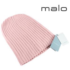 malo ニット帽 キッズ 秋冬 キッズサイズ ピンク カシミヤ100% マーロ 並行輸入品|utsubostock