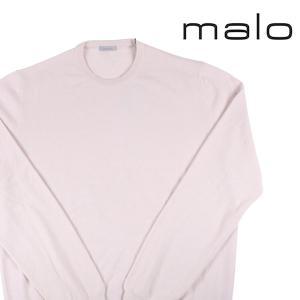 【58】 malo マーロ 丸首セーター メンズ 秋冬 カシミヤ100% 無地 ホワイト 白 並行輸入品 ニット 大きいサイズ|utsubostock