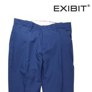 EXIBIT 無地 スラックス PAD22343 blue 44 16837B【S16838】 エグジビット|utsubostock