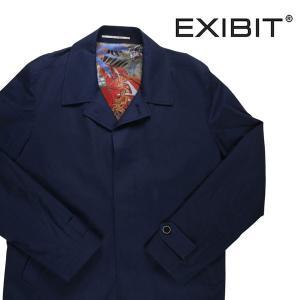 【56】 EXIBIT エグジビット コート メンズ 無地 ネイビー 紺 並行輸入品 アウター トップス 大きいサイズ|utsubostock