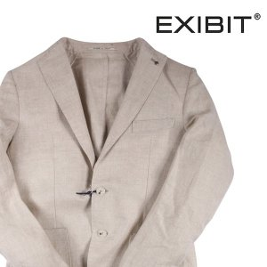 【48】 EXIBIT エグジビット ジャケット メンズ 春夏 リネン100% 無地 ホワイト 白 並行輸入品 アウター トップス|utsubostock