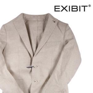 【52】 EXIBIT エグジビット ジャケット メンズ 春夏 リネン100% 無地 ホワイト 白 並行輸入品 アウター トップス 大きいサイズ|utsubostock