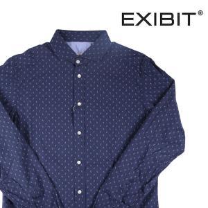 EXIBIT 長袖シャツ CA113C829 navy M 16889【A16891】 エグジビット|utsubostock