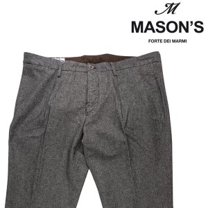 MASON'S コットンパンツ メンズ 秋冬 54/3XL グレー 灰色 メイソンズ 大きいサイズ 並行輸入品|utsubostock