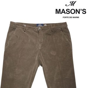 MASON'S コーデュロイパンツ メンズ 秋冬 56/4XL カーキ メイソンズ 大きいサイズ 並行輸入品|utsubostock