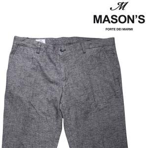 MASON'S コットンパンツ メンズ 秋冬 56/4XL グレー 灰色 メイソンズ 大きいサイズ 並行輸入品|utsubostock