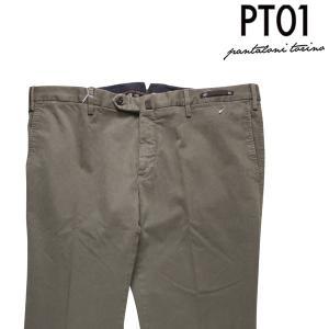 PT01 コットンパンツ メンズ 56/4XL カーキ DT01NT47 446 ピーティー ゼロウーノ 大きいサイズ 並行輸入品|utsubostock