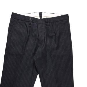 【35】 MONOCROM モノクロム スラックス メンズ 秋冬 ストライプ グレー 灰色 並行輸入品 ズボン 大きいサイズ|utsubostock