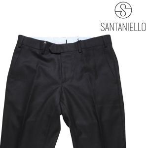 Santaniello スラックス メンズ 秋冬 48/L ブラック 黒 サンタニエッロ 並行輸入品|utsubostock