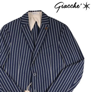 【52】 jakke ジャッケ ジャケット メンズ 春夏 ストライプ ネイビー 紺 並行輸入品 アウター トップス 大きいサイズ|utsubostock