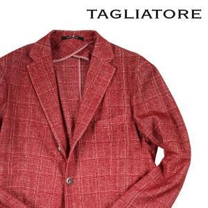 【48】 TAGLIATORE タリアトーレ ジャケット 1SMT23B メンズ 秋冬 チェック レッド 赤 並行輸入品 アウター トップス utsubostock