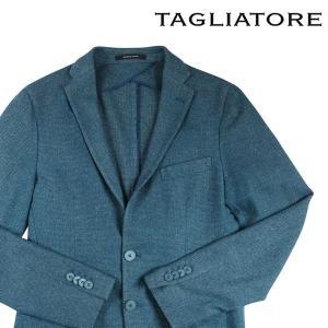 TAGLIATORE カシミヤxシルク混 ジャケット 1SGT22K emeraldo blue 48【W17011】 タリアトーレ|utsubostock