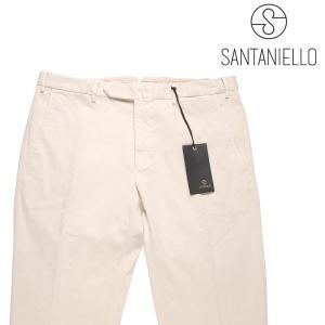 【48】 Santaniello サンタニエッロ コットンパンツ メンズ ホワイト 白 並行輸入品 ズボン|utsubostock