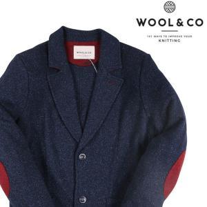 【S】 Wool&Co ウールアンドコー ジャケット メンズ 秋冬 シルク混 ネイビー 紺 並行輸入品 アウター トップス utsubostock