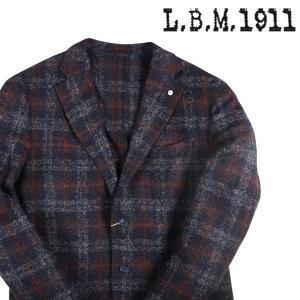 L.B.M.1911 チェック ジャケット 72071/1 navy x orange 56 17046【W17048】 utsubostock