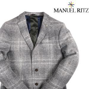 Manuel Ritz ジャケット メンズ 秋冬 50/XL ホワイト 白 マニュエル リッツ 並行輸入品|utsubostock