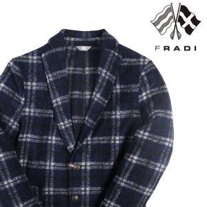 FRADI ジャケット メンズ 秋冬 48/L ネイビー 紺 フラディ 並行輸入品|utsubostock