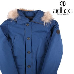 adhoc ダウンジャケット メンズ 秋冬 XXL/52 ブルー 青 アドホック 大きいサイズ 並行輸入品|utsubostock