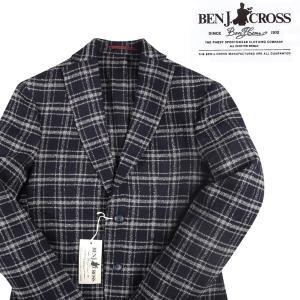 BEN J.CROSS ジャケット メンズ 秋冬 52/2XL ネイビー 紺 ベン・ジェイクロス 大きいサイズ 並行輸入品|utsubostock