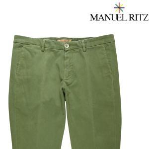 【34】 Manuel Ritz マニュエル リッツ コットンパンツ メンズ 秋冬 無地 グリーン 緑 並行輸入品 ズボン 大きいサイズ|utsubostock
