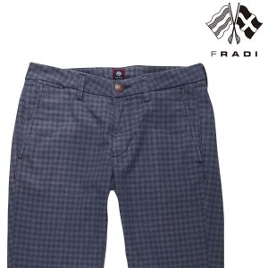 【34】 FRADI フラディ パンツ メンズ チェック ネイビー 紺 並行輸入品 ズボン 大きいサイズ utsubostock