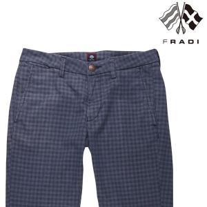【36】 FRADI フラディ パンツ メンズ チェック ネイビー 紺 並行輸入品 ズボン 大きいサイズ utsubostock