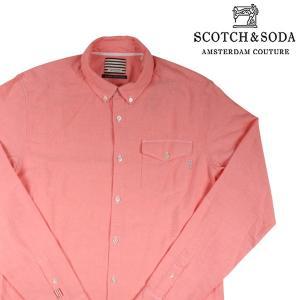 SCOTCH&SODA 長袖シャツ メンズ L/48 ピンク スコッチアンドソーダ 並行輸入品|utsubostock