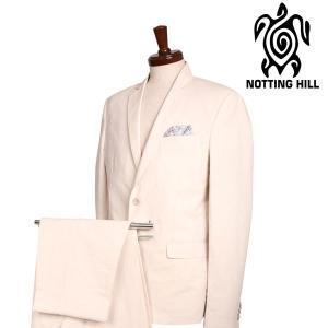 NOTTING HILL スーツ メンズ 春夏 50/XL ホワイト 白 リネン混 ノッティングヒル 並行輸入品|utsubostock
