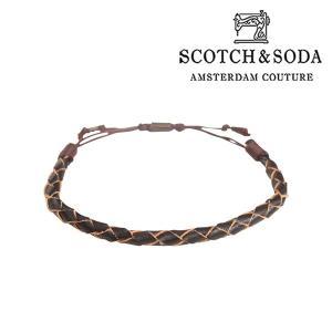SCOTCH&SODA ブレスレット brown 17181BR【A17182】|utsubostock