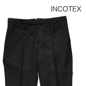 INCOTEX スラックス メンズ 46/M ブラック 黒 1AT082 インコテックス 並行輸入品|utsubostock